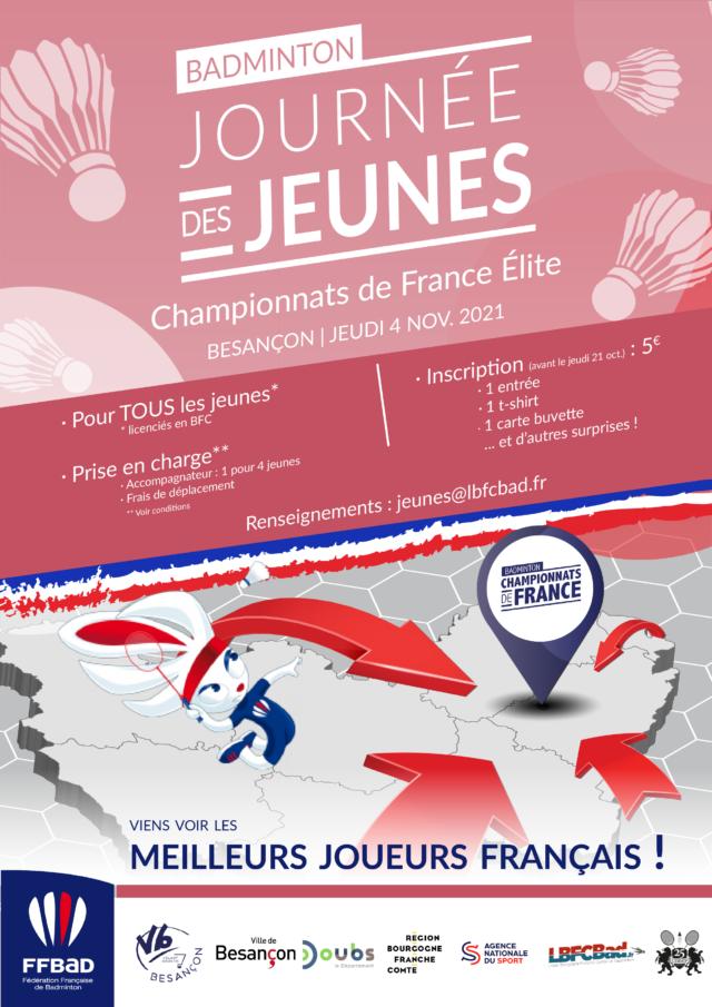 JOURNÉE DES JEUNES – CHAMPIONNATS DE FRANCE ÉLITE – JEUDI 4 NOV.